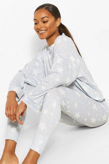 Grey Tall All Over Star Print Pyjama Set