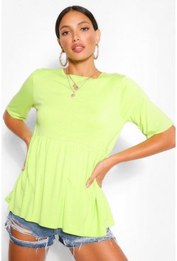Lime Tall Jersey Smock Top