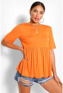 Orange Tall Jersey Smock Top