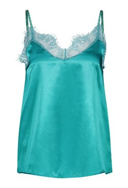 Sage Tall Satin Cami Top