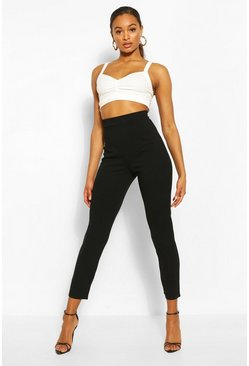 Black Tall Tailored Cropped Trousers