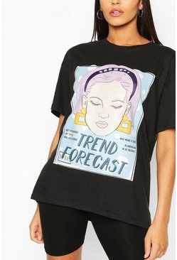 Tall - T-shirt « Trend Forecast », Noir