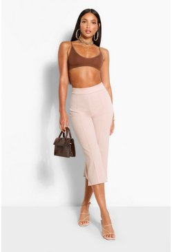Stone beige Tall Tailored Woven Culottes