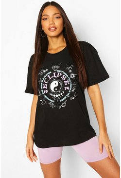 "Camiseta ancha ""Eclipse"" Tall, Negro"