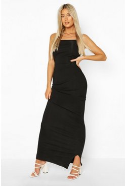 Black Tall Rib Maxi Dress