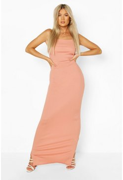 Blush pink Tall Rib Maxi Dress