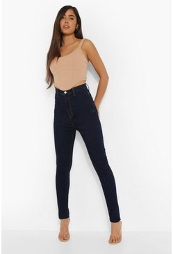 Dark blue blue Tall Basic Disco Skinny Jeans