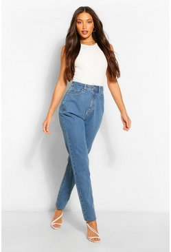 Dark blue blue Tall Basic Boyfriend Jeans