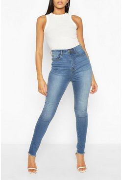 Mid blue blue Tall Denim Bum Lifting Skinny Jeans