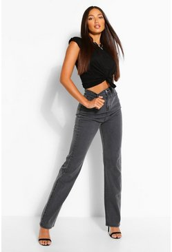 Tall Denim Vintage Grey Wash Wide Leg Jeans