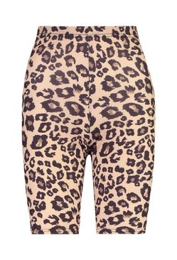 Tall Leopard Print Cycling Shorts
