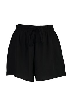 Black Tall Runner Shorts