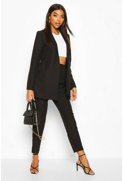 Black Tall Edge To Edge Woven Blazer