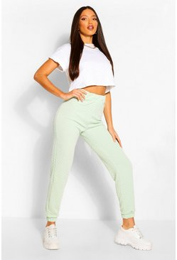 Mint green Tall Quilted Jersey Joggers