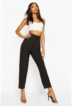 Black Tall Straight Leg Woven Trousers