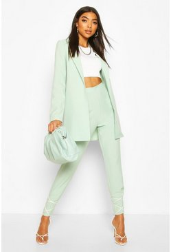 Mint green Tall Ankle Grazer Woven Trousers
