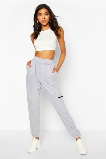 Grey Tall Zip Pocket Joggers