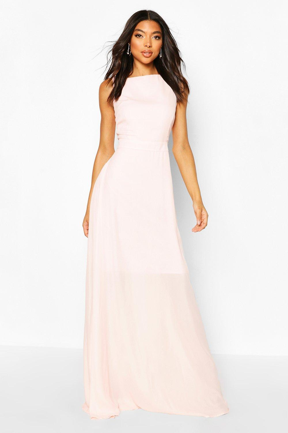 Don't Miss Out Tall High Neck Open Back Maxi Dress