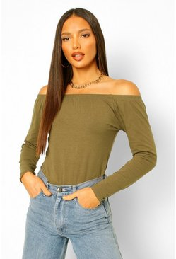 White Tall Off The Shoulder Bodysuit