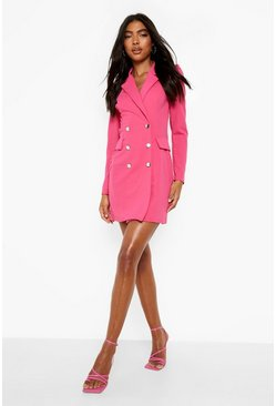 Tall - Robe blazer à manches bouffantes, Fuchsia rose