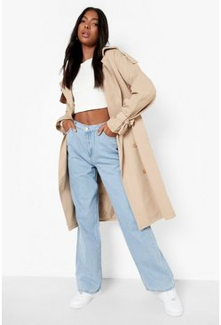 Tall High Rise Wide Leg Jeans, Blue azzurro