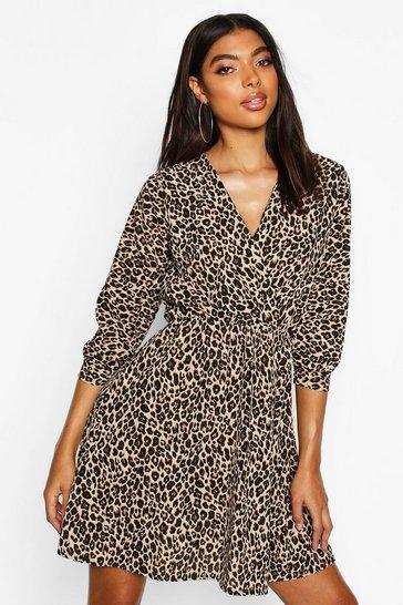 Tall Leopard Print Wrap Dress