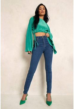 "Mid blue blue Tall High Waist 36"""" Leg Skinny Jeans"