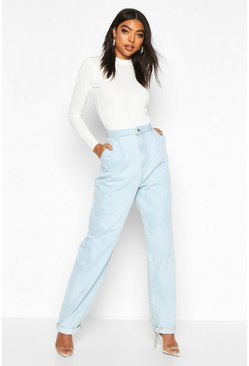 Mid blue blue Tall Turn Cuff Boyfriend Jeans