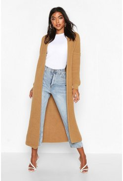 Camel beige Tall Soft Knit Maxi Cardigan