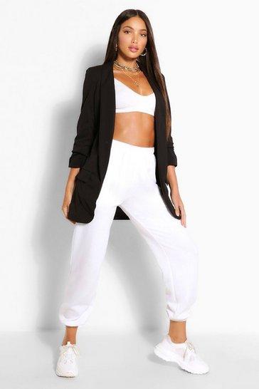 Black Tall Ruched Sleeve Blazer