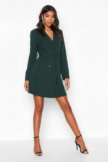 Teal green Tall Belted Blazer Dress
