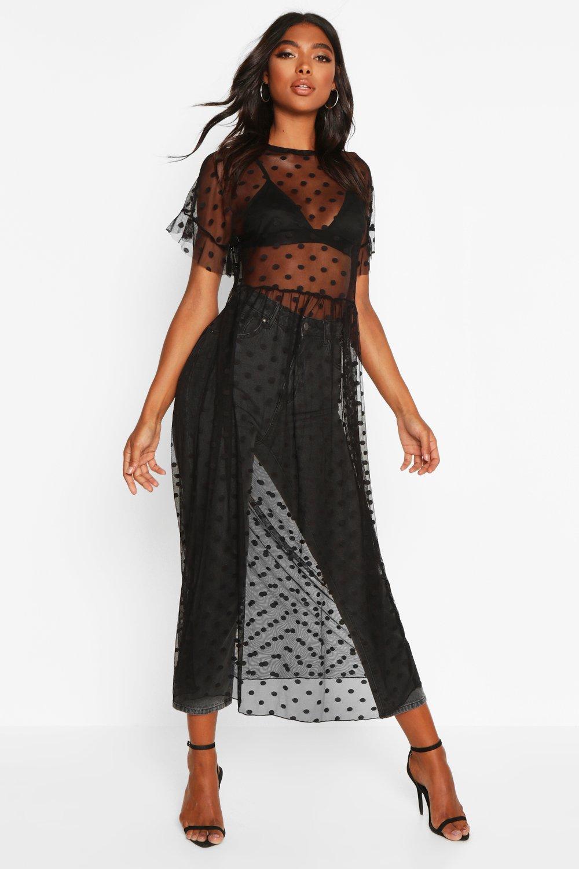 Womens Sale Tall Dobby Mesh Midi Dress