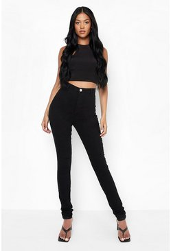 Black Tall High Waisted Skinny Jeans