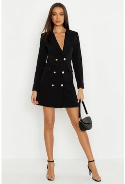 Black Tall Blazer Dress