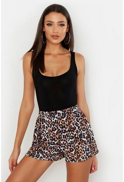 Tall Leopard Print Flippy Shorts
