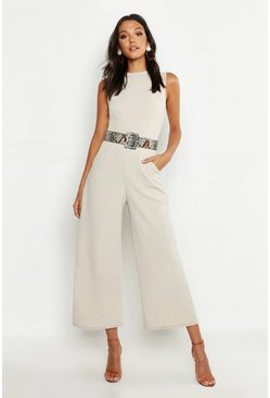 Stone beige Tall Tailored Jumpsuit