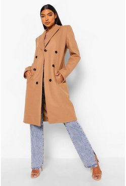 Camel beige Tall Double Breasted Coat