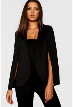Tall blazer a mantella, Nero