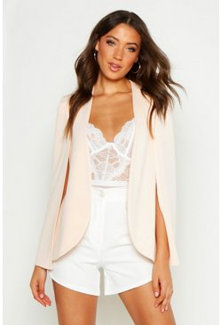 Blush pink Tall Cape Blazer