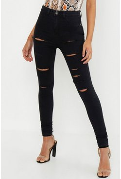 Zwart black Tall Gescheurde Jeggings