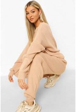 Rose Tall Slash Neck Knitted Lounge Set