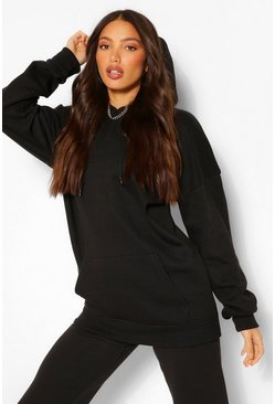 Tall - Sweat à capuche oversize, Noir