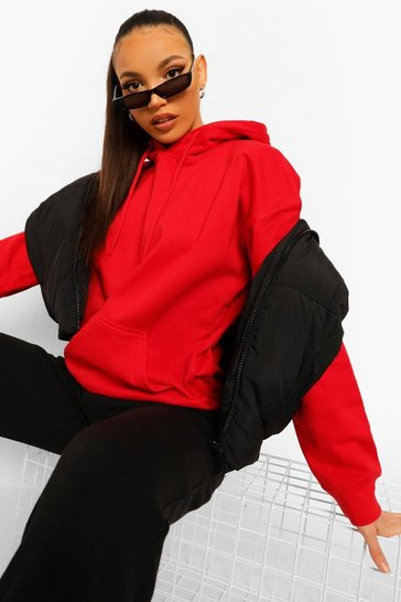 Red Tall Oversized Hoodie