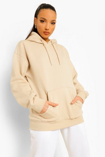Sand Tall Oversized Hoody