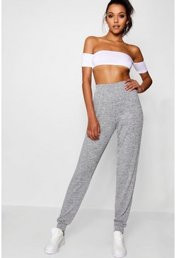 Grey Tall  Knitted Joggers