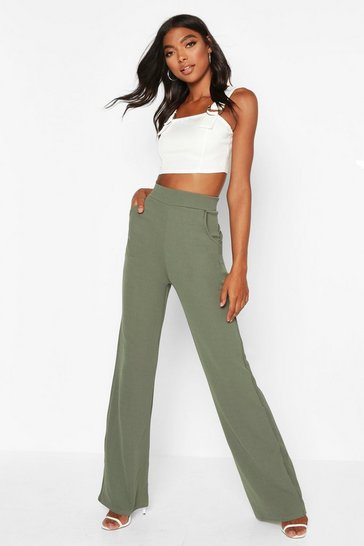 Sage green Tall High Waisted Trousers
