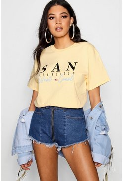 Yellow Tall San Francisco Slogan Tee