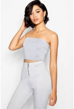Grey Tall Jersey Bandeau