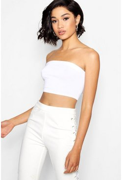 White Tall Jersey Bandeau