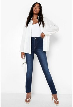 "Blue Tall  38"""" Leg High Waist Jeans"
